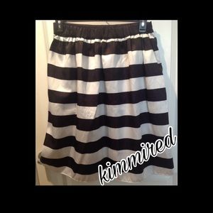 Dresses & Skirts - 🆕 Black/White Striped Skirt ~ XXL ~ NWOT